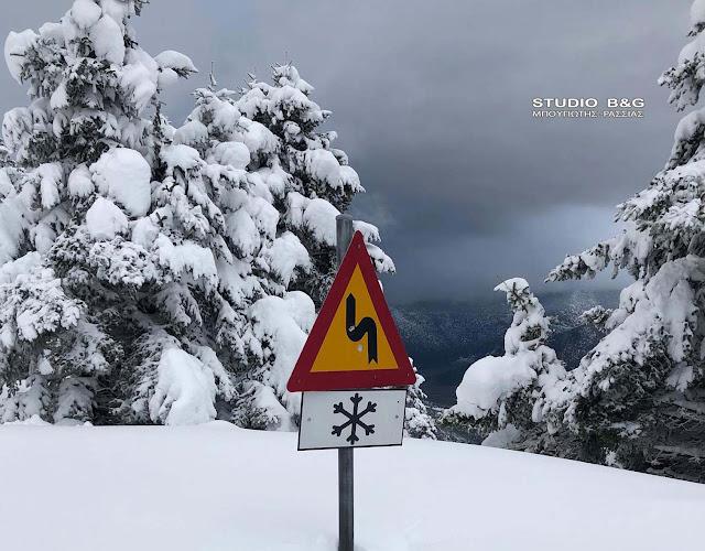 Έκτακτο Δελτίο Επιδείνωσης Καιρού - Στο επίκεντρο του χιονιά η Βορειοανατολική Πελοπόννησος
