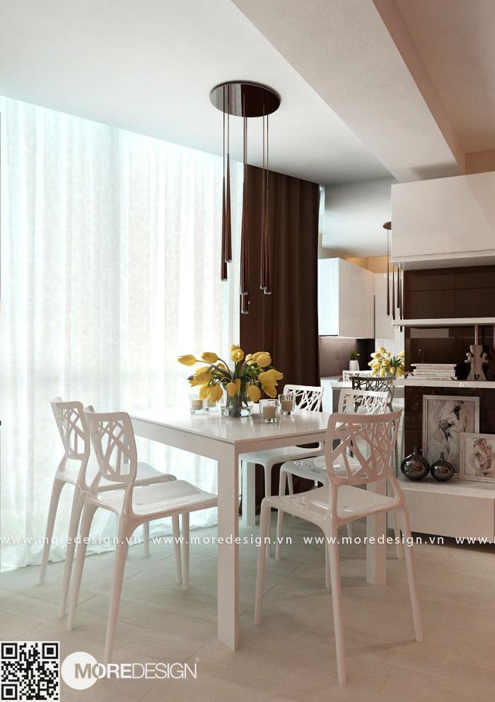 Mẫu bàn ăn đẹp cho căn hộ chung cư