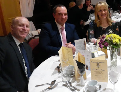 Picture: The 2018 Briggensians' Association dinner at Elsham Golf Club went ahead, despite snowy weather in March - see Nigel Fisher's Brigg Blog