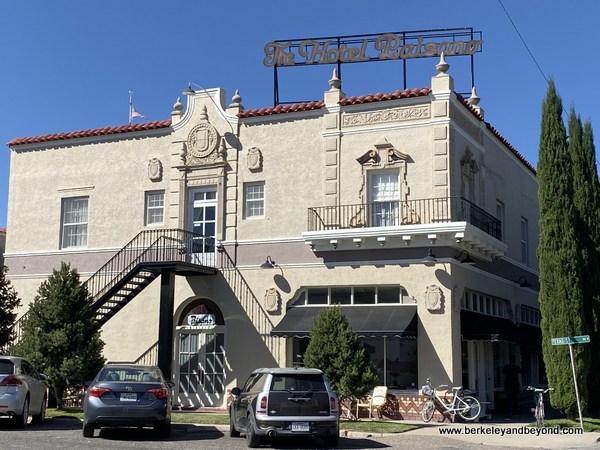 exterior of Hotel Paisano in Marfa, Texas
