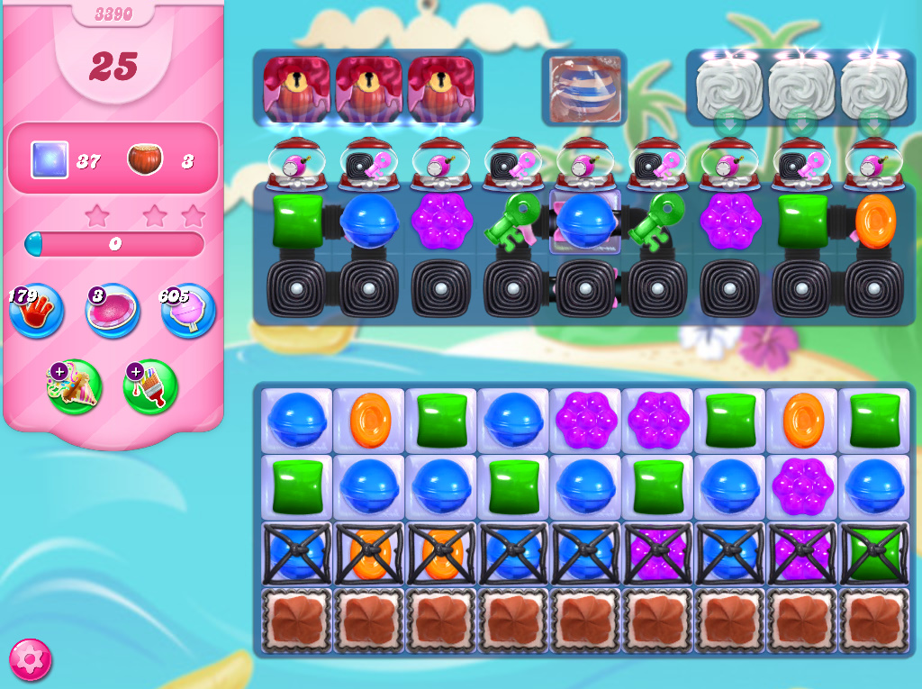 Candy Crush Saga level 3390