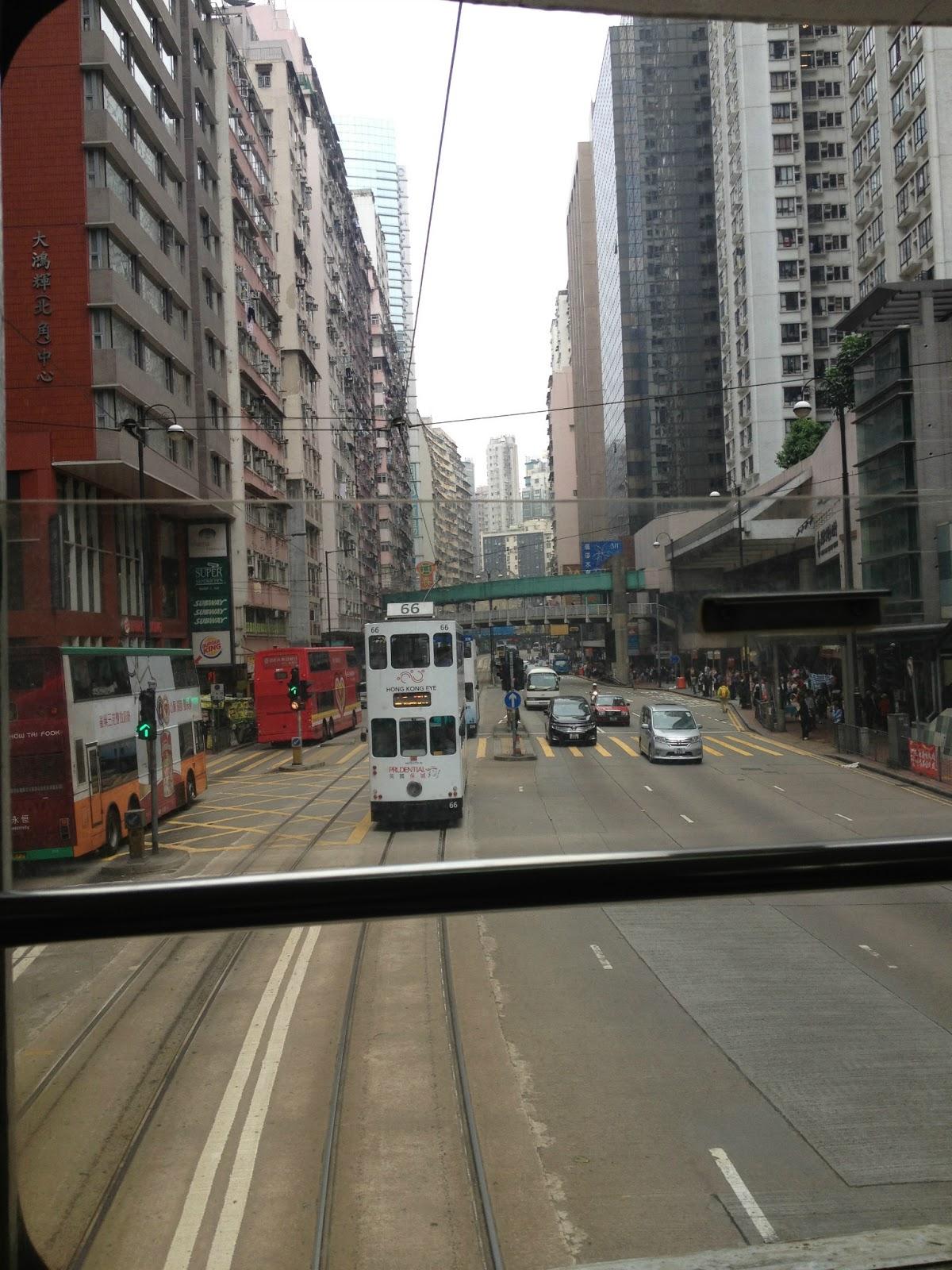 吃飽琛著: [香港旅遊] 北角二-叮叮車-金融中心-山頂纜車