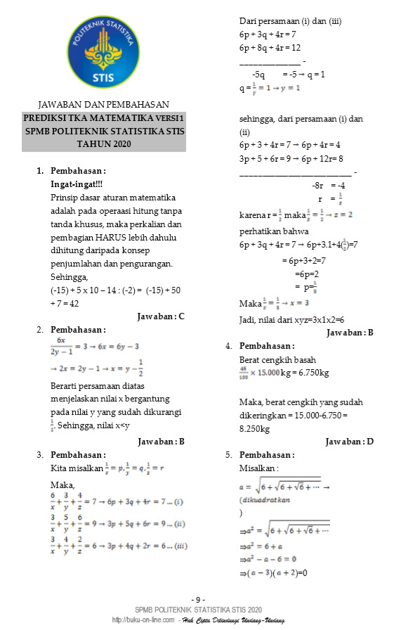 Statistika ekonomi 1 makalah untuk memenuhi nilai mata kuliah statistik 1 disusun oleh : Soal Stis Gratis Persiapan 2021 Cek Ini Pagunpost