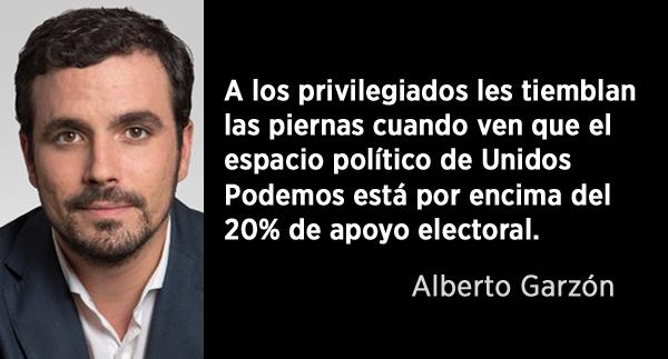 """Alberto Garzón: """"Si no eres de orden no sales en la foto"""""""