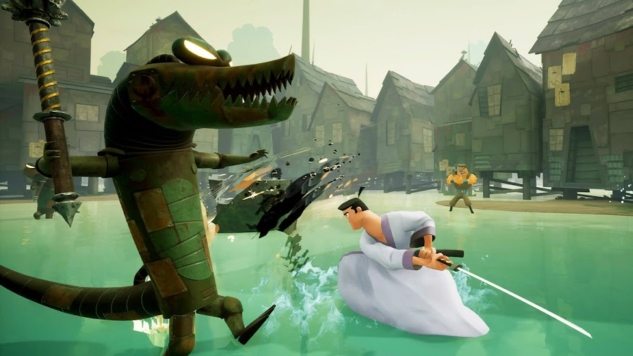 samurai jack battle through time adventure alligator people soleil games adult swim 3D hack and slash action game switch pc steam ps4 xb1