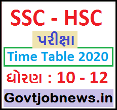 GSHEB SSC HSC Timetable 2020