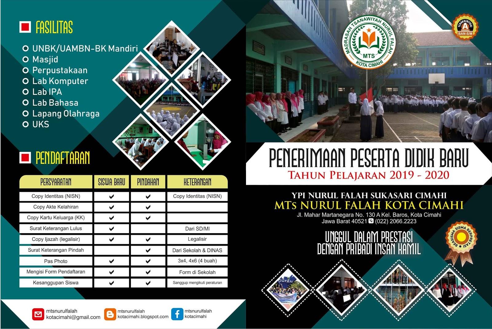 Desain Keren Brosur PPDB Sekolah SD, SMP/MTs, SMA/SMK dan ...