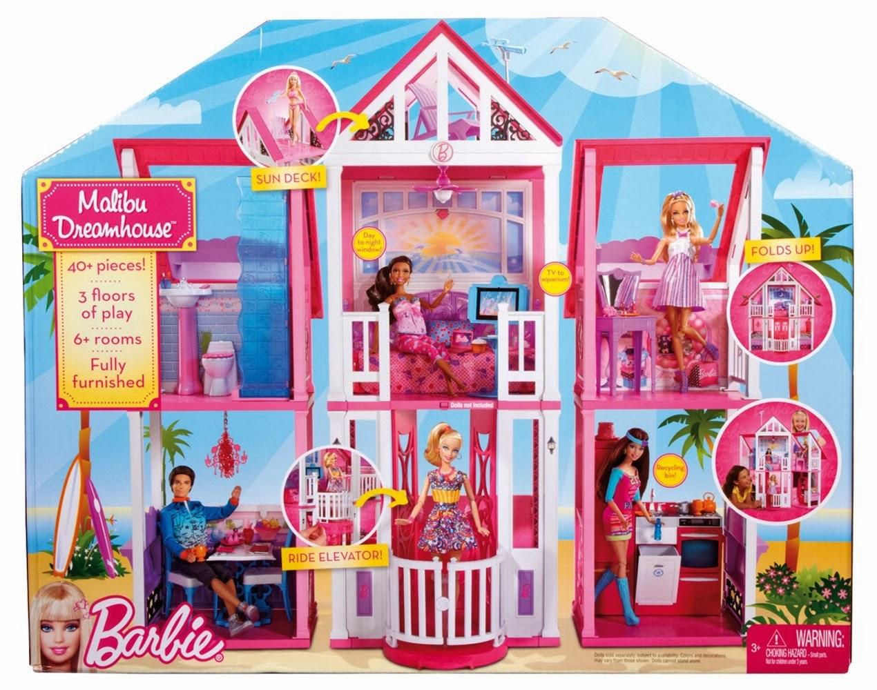 La Casa di Malibu di Barbie con l\'ascensore e tre piani a Natale ...