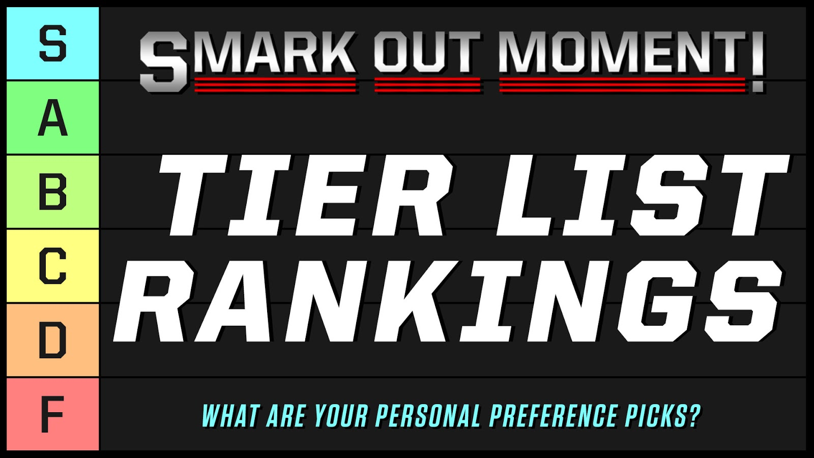 pro wrestling tier list rankings