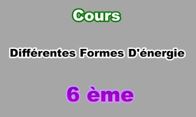 Cours de Différentes Formes d'Energie 6eme en PDF