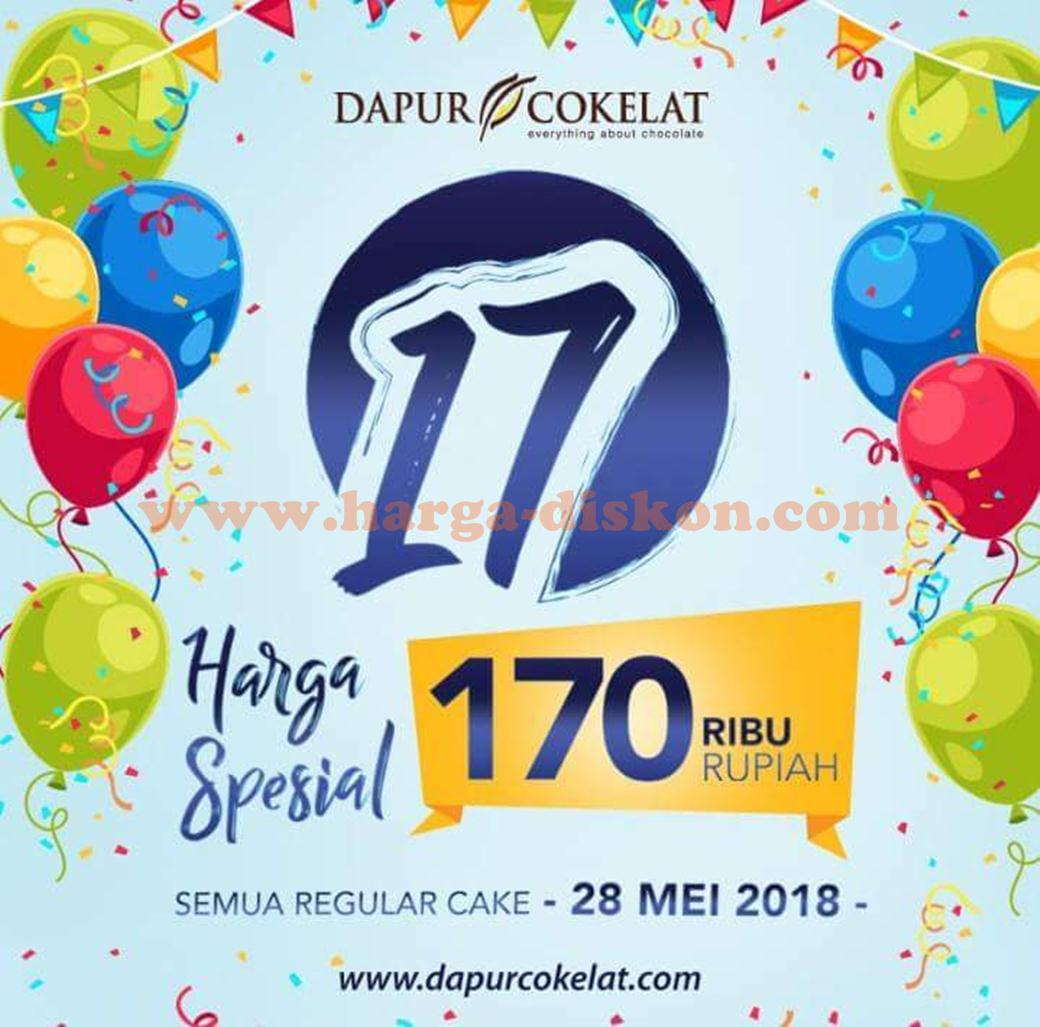 Promo Dapur Cokelat Harga Spesial Regular Cake Rp170 000 Periode 28