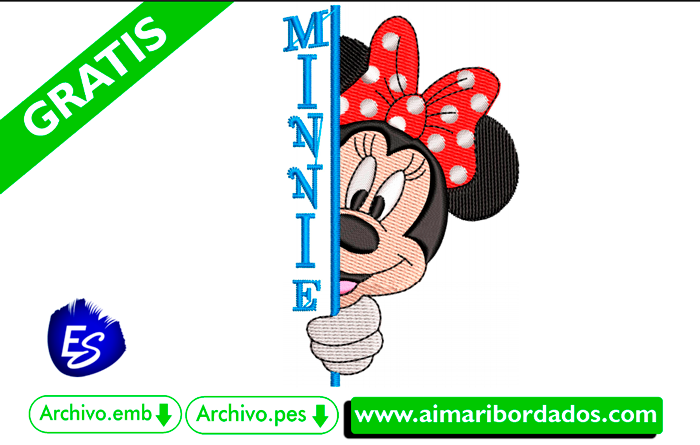 Bordado minnie descargar gratis
