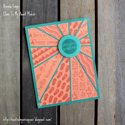 Sunburst Technique Blog Hop - card 2