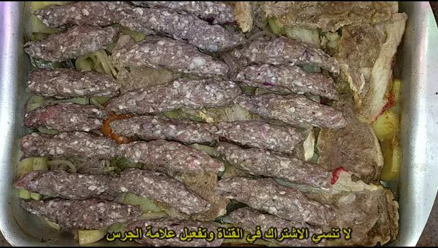 صنية بطاطس باللحمة و الكفتة في الفرن الشيف محمد الدخميسي