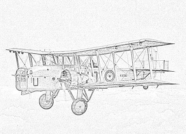 biplanes coloring pages coloring.filminspector.com Boulton Paul Overstrand