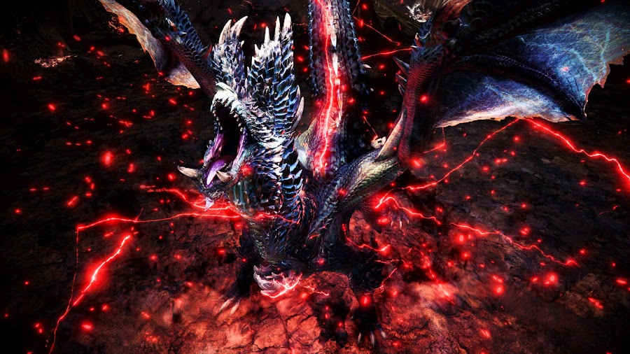 monster hunter world iceborne alatreon divinity set bonus blazing black elder dragon free title update 4 dlc expansion ps4 xb1 action rpg capcom 2020