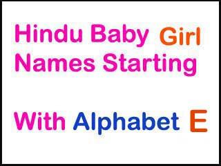 Hindu Baby Girl Names Starting With E In Sanskrit