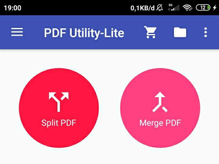 Pilih Menu Merge PDF pada Aplikasi PDF Utility
