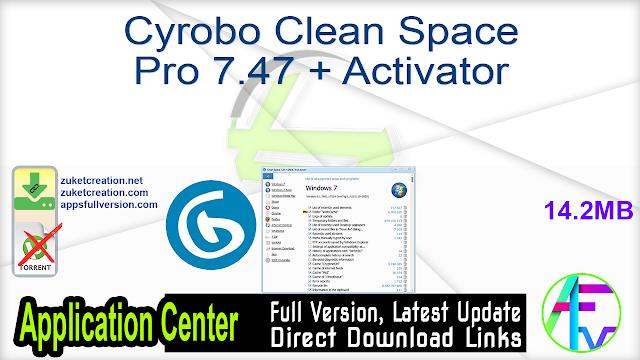 Cyrobo Clean Space Pro 7.47 + Activator