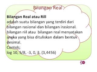 Bilangan Rill atau Real