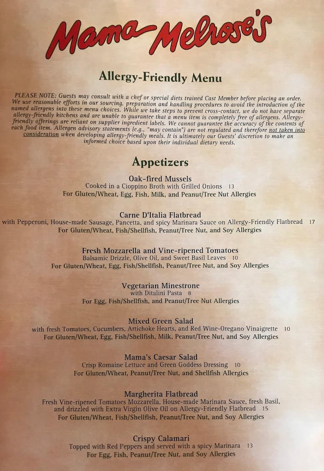 Alexis\'s Gluten Free Adventures: Mama Melrose\'s Ristorante Italiano ...