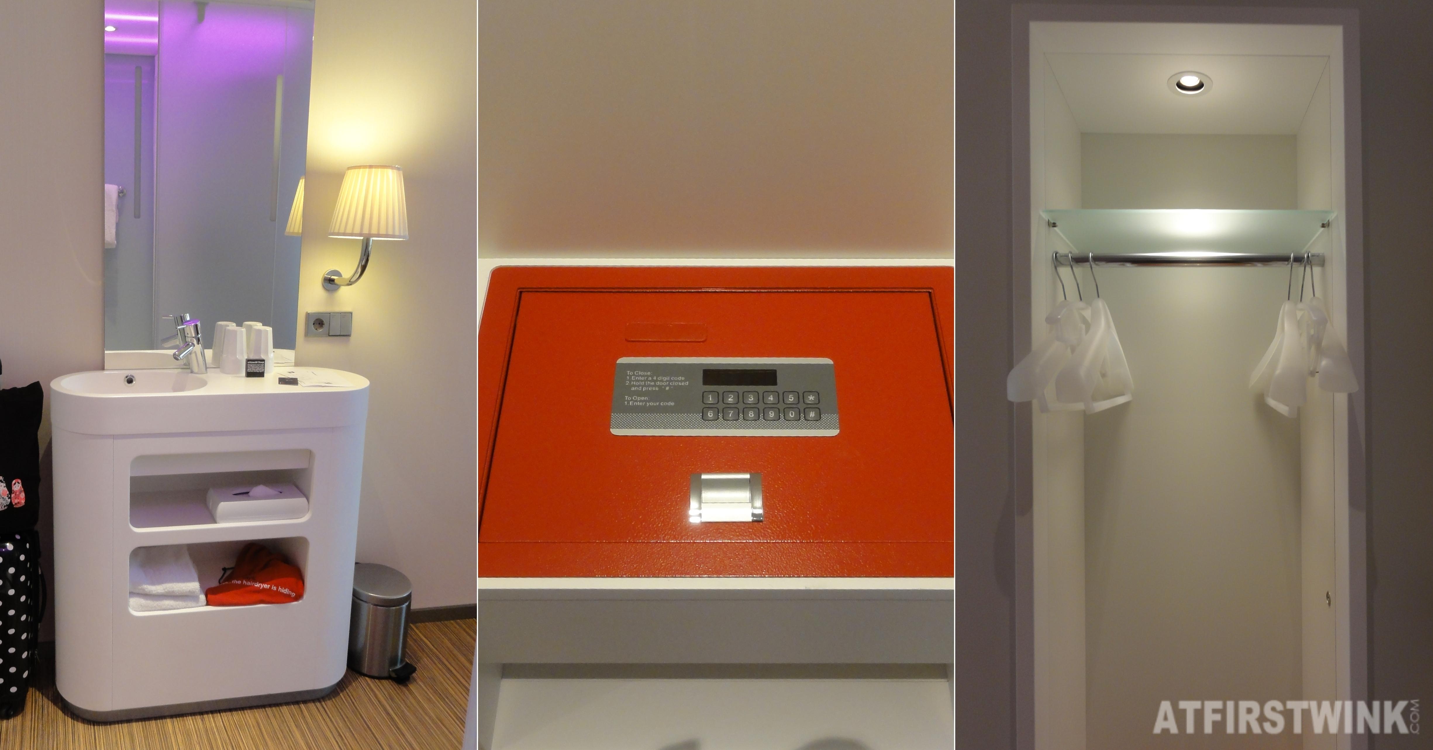 citizenM hotel in Rotterdam sink safe closet