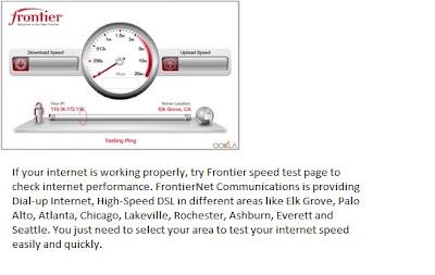 best of internet: frontier speed test