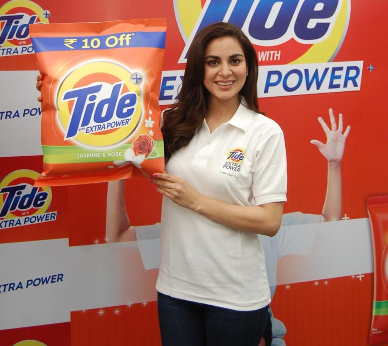 Shraddha Arya launching new Tide Plus with Extra Power