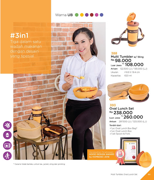 Multi Tumbler, Oval Lunch Set, Katalog Tulipware 2019