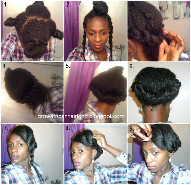 protective styles to grow hair long protective hairstyle on transitioning hair grow 8382 | hair do pictorial