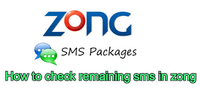 How to check remaining sms in zong - how to check zong remaining sms