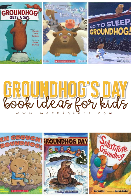 This is a great list of Groundhog's Day books that are great for toddlers, preschoolers, and school aged kids. These go great with any tot school curriculum and for your groundhog learning activities.