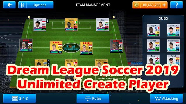 Dream League Soccer 2019 Unlimited Create Player 100% Work