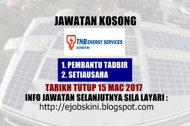 Jawatan Kosong TNB Energy Services (TNBES) Mac 2017