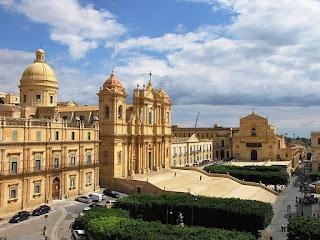 The Cathedral of San Nicoló in Noto, one of many cities in southeast Sicily rich in Baroque architecture