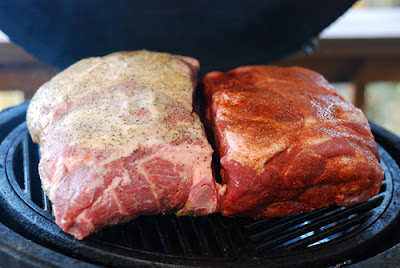 pork shoulder big green egg, kamado grill