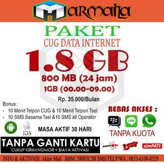Paket CUG Internet 1.8GB dan 1.1GB Murah