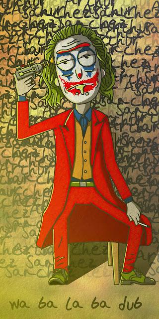 Wallpaper Rick Sanchez as The Joker