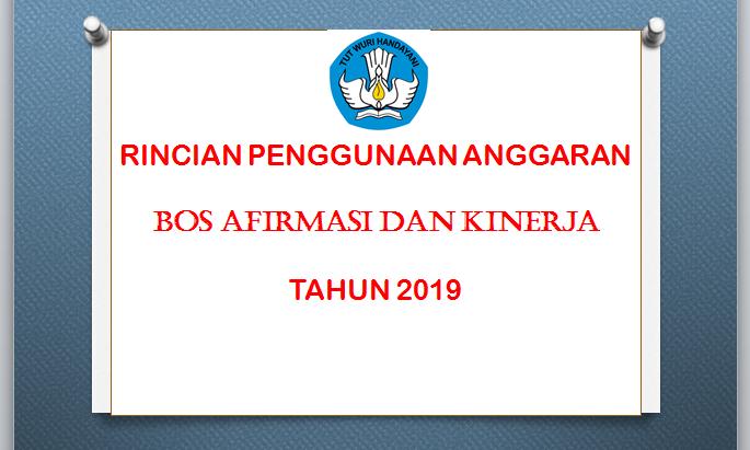 Rincian Penggunaan Anggaran Bos Afirmasi Dan Bos Kinerja Berdasarkan Permendikbud Nomor 31 Tahun 2019 Haloprofesi