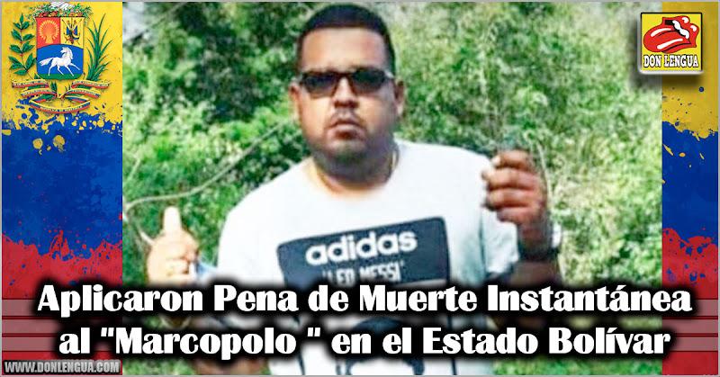 """Aplicaron Pena de Muerte Instantánea a """"Marcopolo """" en Bolívar"""