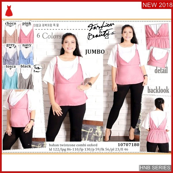 HNB082 Model Blouse Kancing Ukuran Besar Jumbo Modis BMG Shop