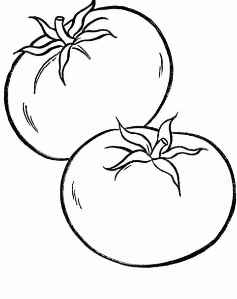 Tranh tô màu quả cà chua