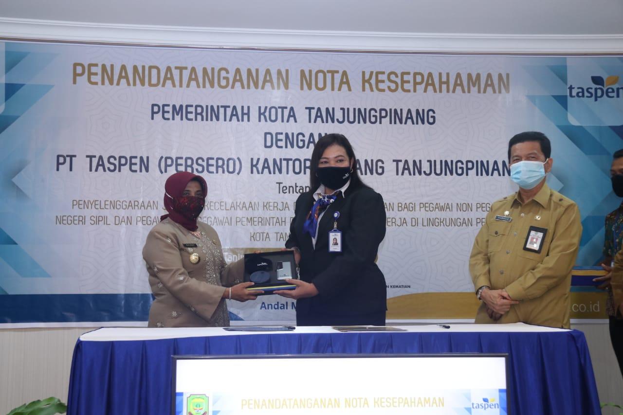 Pemko Tanjungpinang Kerjasama Dengan PT. Taspen Terkait JKK dan JKM Bagi Pegawai Non ASN