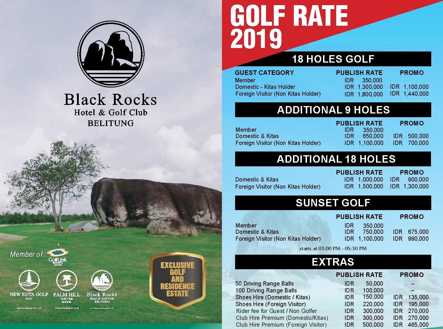Harga Paket Golf Black Rocks Golf Belitung & Hotel