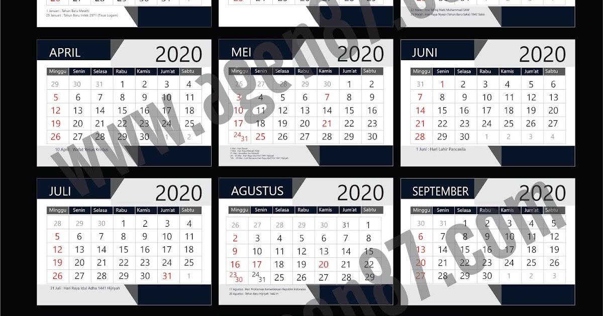 Desain Kalender Tahun 2020 CDR Free DOWNLOAD - NEW year ...