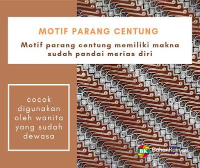 motif batik Parang Centung