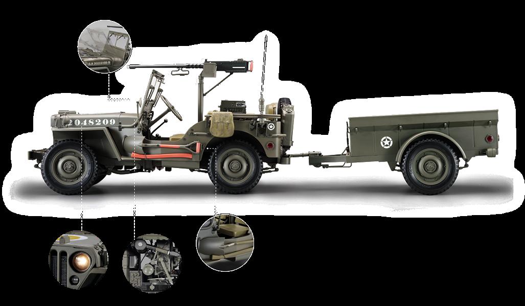 Jeep Willys MB 1/8 Salvat Argentina