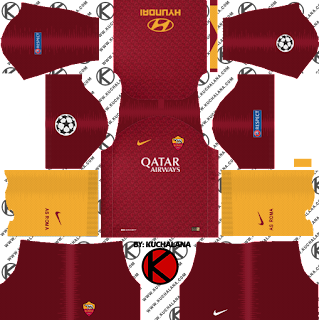 AS Roma 2018/19 UCL Kit - Dream League Soccer Kits