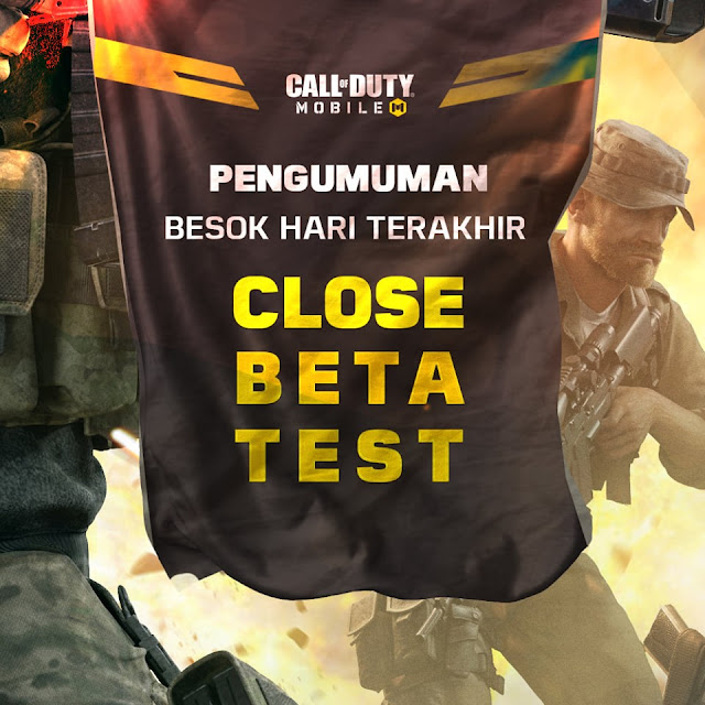 Jadwal Penutupan Server CBT Call Of Duty Mobile Garena