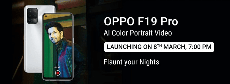 OPPO to make F19 Pro and F19 Pro+ official on March 8